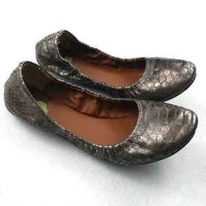 Lucky Brand Emmie Crocodile Ballet Flats Size 6.5B